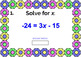 "SOLVING TWO-STEP EQUATIONS: ""DIGITAL"" BOOM CARDS (60 TASK CARDS)"