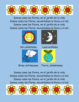 SOMOS COMO LAS FLORES by Spanish made SIMPLE | Teachers Pay Teachers
