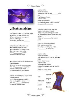 SONG - Arabian Nights