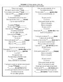 SONG El Perdon Spanish Cloze Activity (Stem Changers / Boo