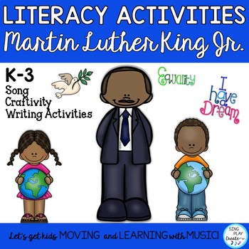 """""""Martin Luther King Jr."""" Song and Literacy Actitivities with Mp3 Tracks"""