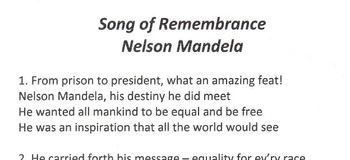 SONG OF REMEMBRANCE – NELSON MANDELA