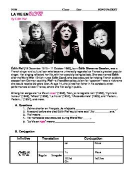 "Valentine SONG PACKET: ""La Vie En Rose"" Edit Piaf. French Love Song."