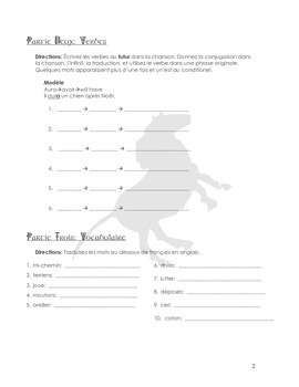 """SONG PACKET: Pony Express """"Petits Matins"""". Practice the Futur Simple"""