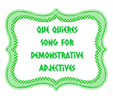 SONG (RAP) - Demonstrative Adjectives in Spanish