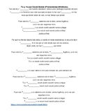 SONG Tú y Yo Cloze Spanish Activity (Pronouns & Infinitives)