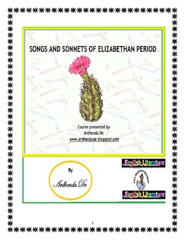 SONGS AND SONNETS OF ELIZABETHAN PERIOD