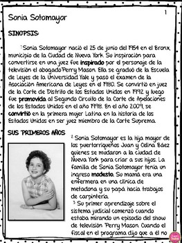 SONIA SOTOMAYOR IN SPANISH