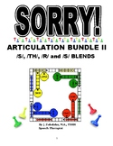 SPEECH THERAPY SORRY! ARTIC. Cards BUNDLE II:/S/, /TH/, /R