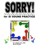 SPEECH THERAPY SORRY! Game Cards for /S/ SOUND PRACTICE