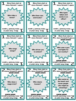 """SPEECH THERAPY SORRY! Game Cards for """"WH"""" QUESTION COMPREHENSION PRACTICE-"""
