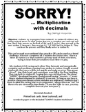 SORRY! - Long multiplication w DECIMALS game/race/activity