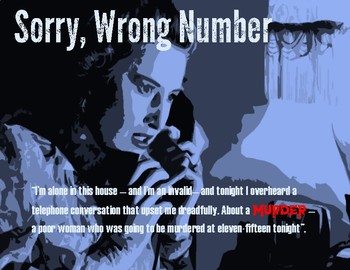 SORRY, WRONG NUMBER Poster with Quote