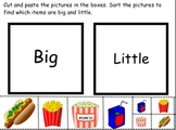 SORT- Big and Little picture sort (4 food items)