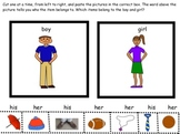 SORT- His and Her picture sort