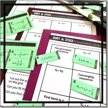 SORT & STICK:  Geometric Sequences