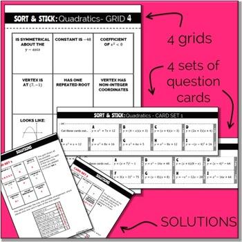 SORT & STICK: Quadratics