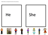 SORT- he and she one page picture sort