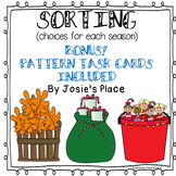 SORTING CENTER  (mats and cards for all seasons) with FREE Pattern Task Cards