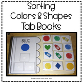 SORTING COLORS & SHAPES INTERACTIVE TAB BOOKS