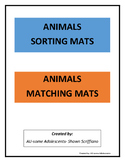 FRIDAY13TH SORTING and MATCHING MATS- Animals