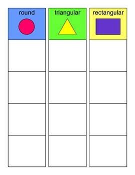 SORTING by Object SHAPE Activity, SPEECH THERAPY, Autism, VOCABULARY, EET