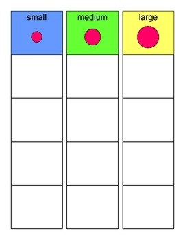 SORTING by SIZE Activity, SPEECH THERAPY, Autism, EET Group