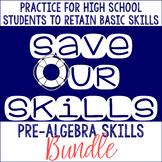 Pre-Algebra SOS (Save Our Skills) BUNDLE