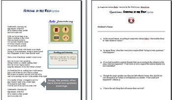 SOS:  Survival in the Wild Research and Teaching Packet