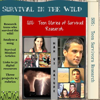 SOS:  Teens Surviving in the Wild Research Project - Man vs Nature