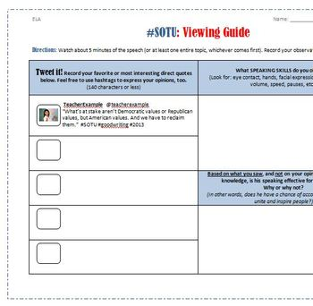 The State of the Union: Non-Fiction Activities for Secondary ELA