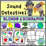 Sound Detectives BLENDS and DIGRAPHS Draw and Solve CENTERS Activities
