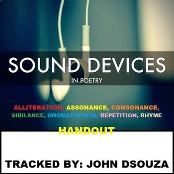 SOUND POETIC DEVICES: HANDOUT