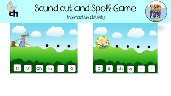 SOUND OUT AND SPELL CH FOR CHEESE