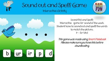 SOUND OUT AND SPELL IR FOR BIRD
