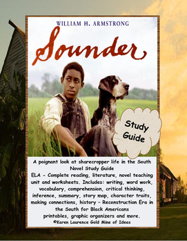 SOUNDER ELA Novel Study Guide Teaching Unit COMPLETE