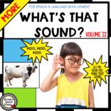 SOUNDS VOCABULARY BOOK Pre-K  Circle whole group speech-language autism PECS