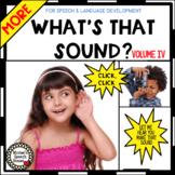 SOUNDS VOCABULARY BOOK Pre-K  Circle whole group speech-la