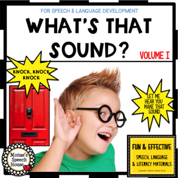 SOUNDS VOCABULARY BOOK Pre-K speech autism EARLY CHILDHOOD
