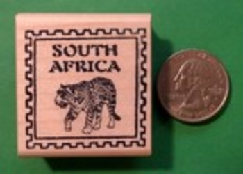 SOUTH AFRICA Country/Passport Rubber Stamp