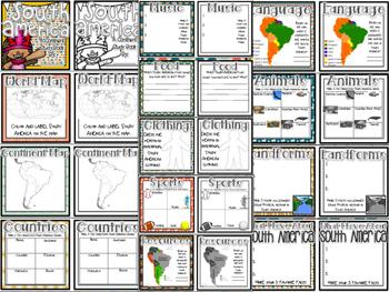 SOUTH AMERICA Continent Study: Paper Bag Book & Close Read Passages #memoriesdea