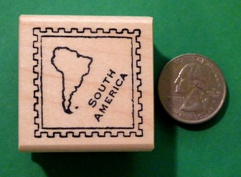 SOUTH AMERICA Continent/Passport Rubber Stamp