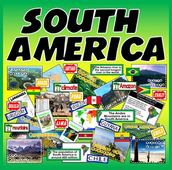 SOUTH AMERICA- RESOURCES LANGUAGE GEOGRAPHY FEATURES DISPLAY SPANISH PORTUGUESE