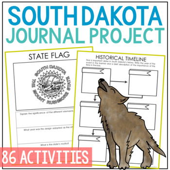 SOUTH DAKOTA State History Guided Research Journal Project {EDITABLE}