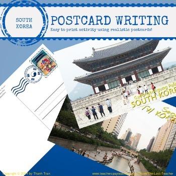 KOREA - South Korea Postcard Writing Activity