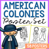 COLONIAL AMERICA POSTERS: Southern Colonies   Coloring Book Pages