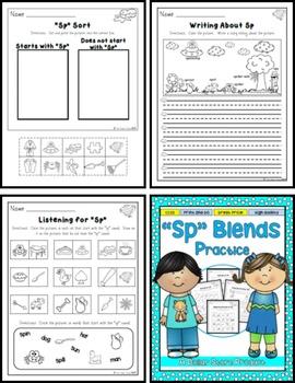 SP Blend Practice Printables Pack