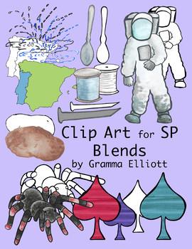 SP Blends Clip Art - Color and Black Line - 300 dpi - PNG - Realistic