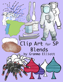 SP Blends Phonics Clip Art Color and Black Line 300 dpi PN