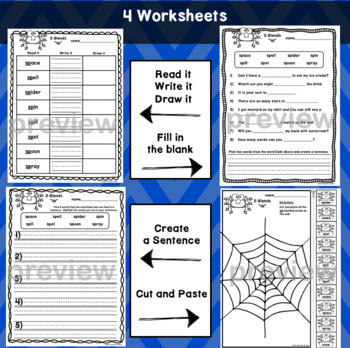 SP Blends Worksheets - Initial Consonant Blends